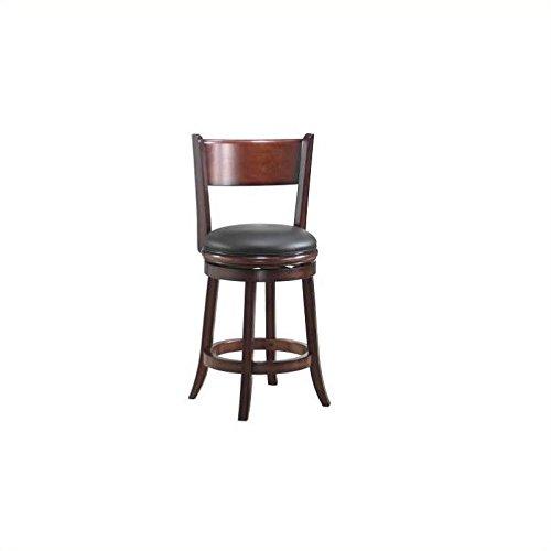 Boraam 48124 Palmetto Counter Height Swivel Stool, 24-Inch, Brandy
