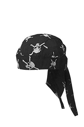 Summer Doo Rag Skull Cap Biker Head Wrap Durag Cycling Bandana Motorcycle  Headwear (Black fd57999a342a
