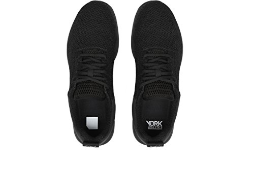 York Atletiek Vedergewicht Breien Lichtgewicht Training Sneaker, Unisex Hardloopschoen, Duurzaam Breien, Gaas, Hardlopen Sneaker Zwarte Top