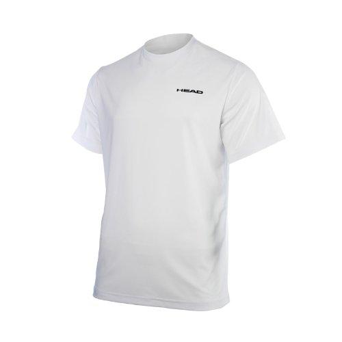 promo code debf9 e6cf9 HEAD Jungen Tennisshirt Doherty JR T-Shirt weiß schwarz ...