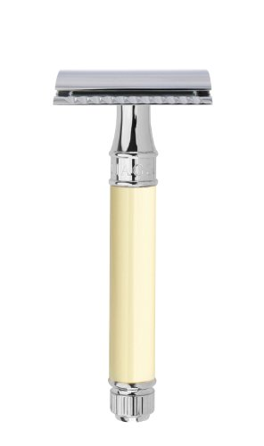 Edwin Jagger Double Edge (DE) Chrome & Ivory Color Handle Safety - Jagger Edwin Double Edge