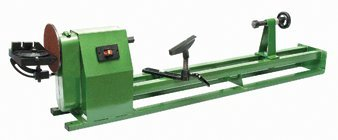 "Variable Speed 14"" X 40"" Lathe with 7"" Sander; Includes Three 7"" Sanding Discs (60, 80 and 100 Grit), Face Plate, Live Center, Table, Spanner Wrench and Miter Gauge"