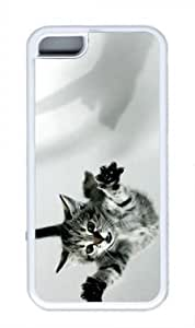 Pin 3d Cat POP Custom Rubber(TPU) white Case for Masterpiece Limited Design iphone 5c iphone 5c by Cases & Mousepads