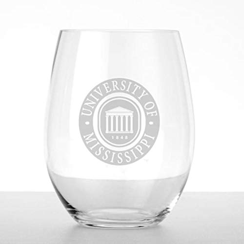 Ole Miss Stemless Wine Glasses - Set of 4 by ()