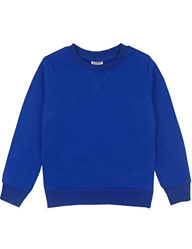 Spring&Gege Youth Basic Sport Crewneck Pullover Sweatshirts for Boys and Girls Size 3-4 Years Royal Blue Blue Youth Fleece Crewneck Sweatshirt