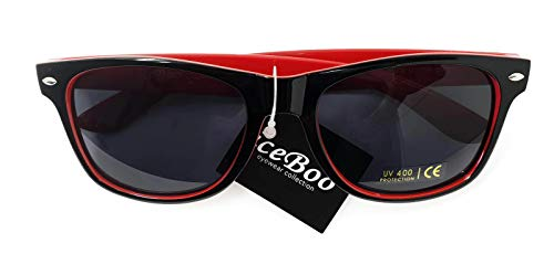 tonos sol Vintage UV400 Retro Lentes de Rojo Gafas Wayfarer de Classic Unisex Espejo New dos wCUqgHFwxZ