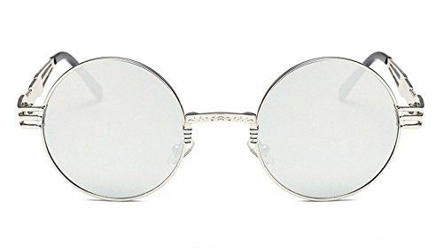 Vidrios Gafas De De re Vidrios JUNHONGZHANG De Retros Sol Marco Metal Señora La La Redondas del del Gafas Las De Manera del Resorte Piernas De Sol wqTanTY0p