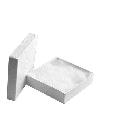 White Jewelry Gift Boxes Cotton Filled #33 Case of 100 A1926