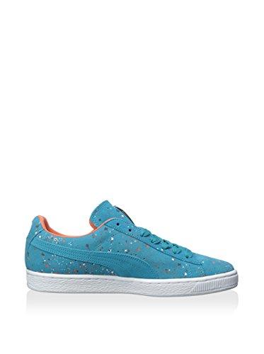 PUMA Mens Suede Classic Splatter Capri BreezeNasturtiumTeam Gold Sneaker 115 D M