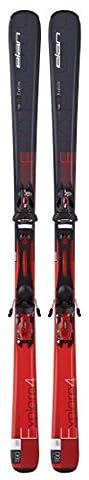 Elan Explore 4 Red Plate Ski and El 10.0 Ski Bindings, Red, 160 (Elan Explore)
