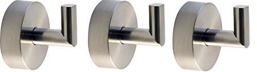 Griipa 3855 Satin Nickel Hook, Suction (3-(Pack))