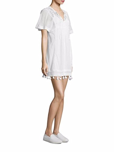 Joie Ralston Cotton Embroidered Short Sleeve White Tunic Dress Coverup - S