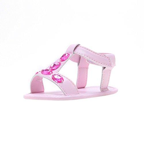 Sandalias De Bebe,BOBORA Prewalker Zapatos Primeros Pasos Para Bebe Color Diamond Baby Walker Sandalias rosa