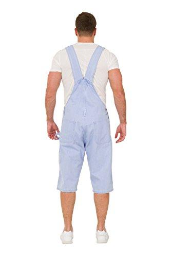 Herren Latzhose Overall Shorts Lightwash kurze latzhose latz shorts BLAKEPALE