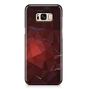 Samsung S8 Plus Case Dark Brown Red Geomaterical Pattern Metal Plate Light Weight Samsung S8 Plus Cover Wrap Around