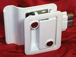 Travel Trailer Lock, White