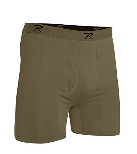 (Rothco AR 670-1 Coyote Brown Moisture Wicking Performance Boxer Shorts, S)