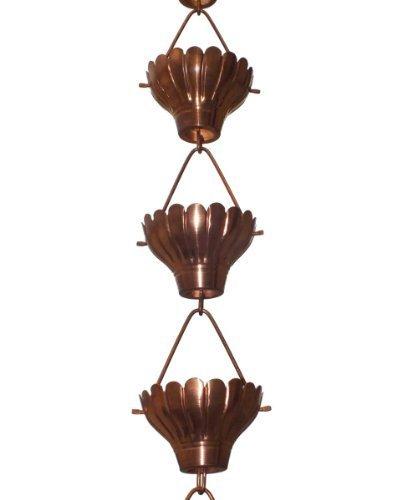 Monarch Rainchains Zinnia Rain Chain, 8.5-Feet, Copper by Monarch Rainchains by Monarch Rain Chains