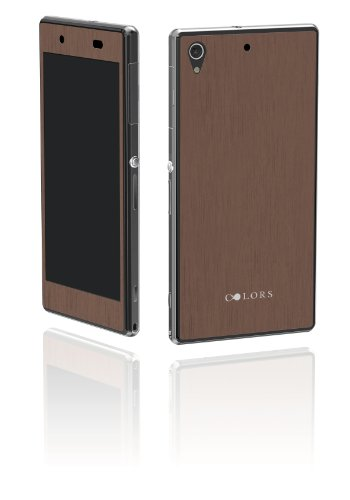 COLORS Xperia ZIS for T-mobile Model: The Wood Skin Surface Collection Walnut - Retail Packaging - Walnut - T Mobile Xperia Z1s Cases