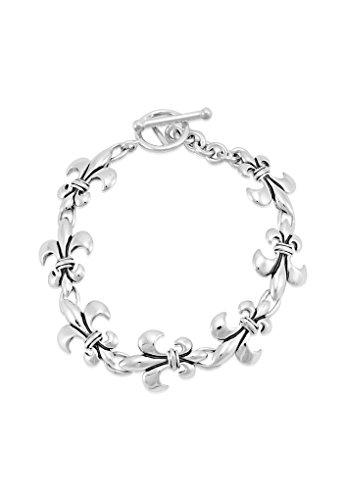 Mignon Faget Fleur de Lis Linking Bracelet Sterling Silver, 7.25'' by Mignon Faget