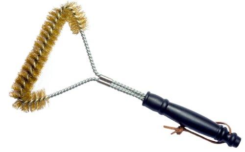 (Grill Brush - 12 Inch, Brass Bristle Wire)