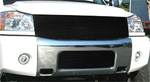 T-rex Vertical Upper Billet Grille - T-Rex Grilles 20780B Horizontal Aluminum Black Finish Replacement Billet Grille for Nissan Titan Armada