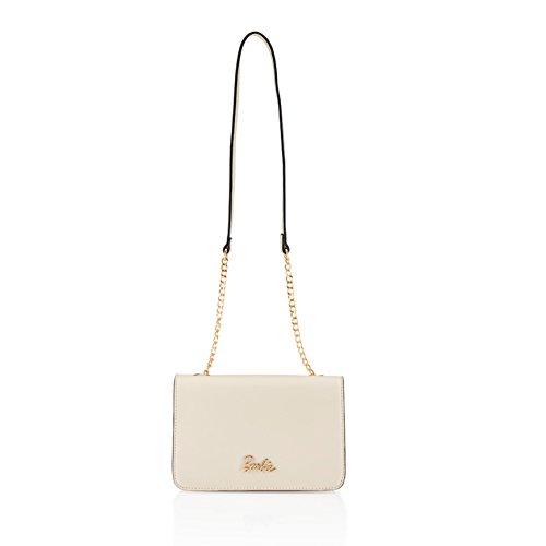barbie BBFB243 bolso para mujeres bolso bandolera de simple estilo elegante blanco