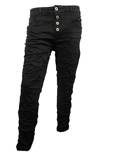 Karostar by Lexxury Denim Stretch Baggy-Boyfriend-Jeans Boyfriend 4 Knöpfe offene Knopfleiste weitere Farben