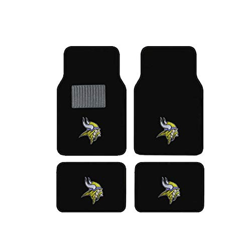 Newly Released Licensed Minnesota Vikings Embroidered Logo Carpet Floor Mats. Wow Logo on All 4 Mats.