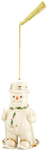 Lenox 869900 Annual China Ornaments 2017 Happy Holly Days Fresh Powder - Happy Snowman Ornament