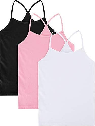 Amazon.com: 3 piezas de la muchacha de la danza Tank Top sin ...