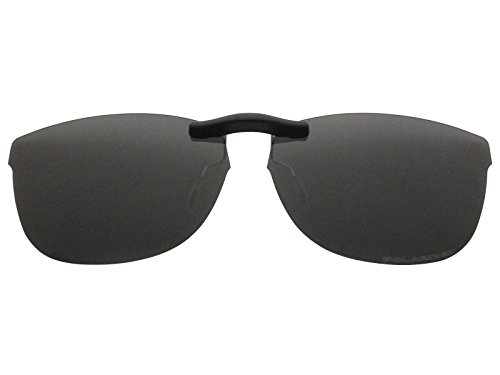 Custom Fit Polarized CLIP-ON Sunglasses For Ray-Ban RB7024 54X16 Black (Ray Ban Clip On Sunglasses)