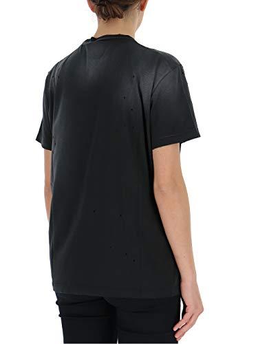 T Algodon S75gc0995s21600900 shirt Blanco Mujer Dsquared2 negro 8U0Fxw
