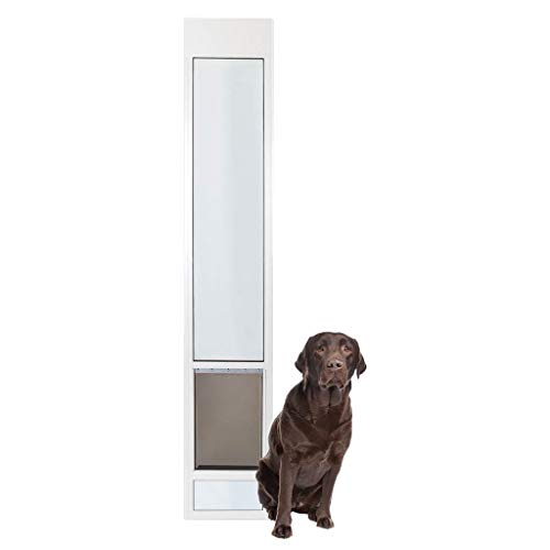 (PetSafe Freedom Aluminum Patio Panel Sliding Glass Dog and Cat Door, Adjustable 91 7/16