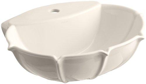 - KOHLER K-2230-1-55 Anatole Pedestal Bathroom Sink Basin with Single-Hole Faucet Drilling, Innocent Blush