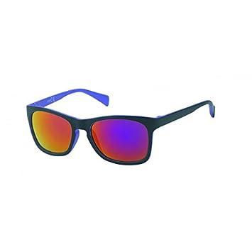 Chic-Net miroir lunettes de soleil vintage rétro Web 400 UV Nerd Wayfarer noir coloré d'orange ceuCIV9N