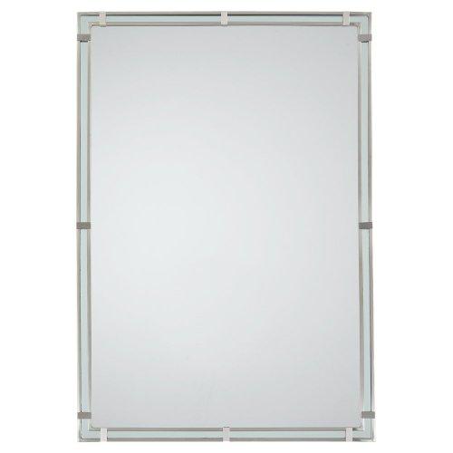 - Feiss MR1089BS Mirror, Brushed Steel