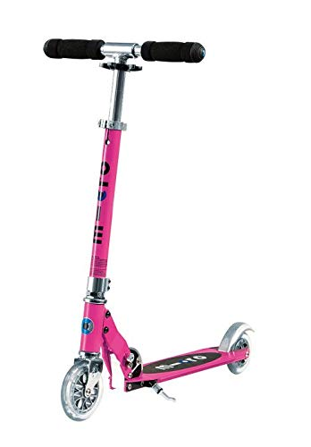 Micro Sprite 2-Wheeled, Smooth-Gliding, Foldable Micro Scooter for Kids, Ages 8 to Adult - Pink