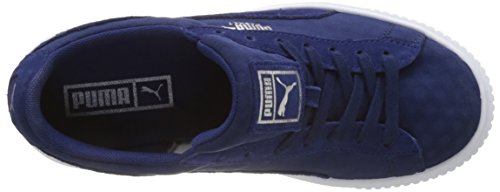 De Basket Sneaker blue Blau Damen Platform Puma Depths Blue Depths q5xwtnInOB