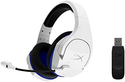 HyperX Cloud Stinger Core – Wireless Gaming Headset, for PS4, PC, Lightweight, Durable Steel Sliders, Noise-Cancelling Microphone, White (HHSS1C-KB-WT/G) 31d0r0l4NAL