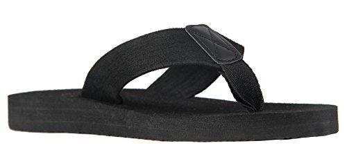 iLoveSIA Mens Flip Flops Thongs Sandal Sandal All Black 4kYTNHp0UL