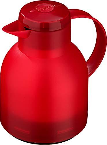 Emsa Samba, Quick Press Insulated Server, Red (Red Insulated Beverage Server)