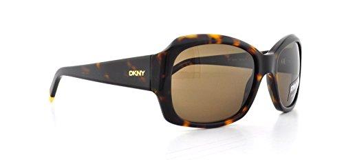DKNY DY4048 Sunglasses,Dark Tortoise Frame/Brown Lens,one size