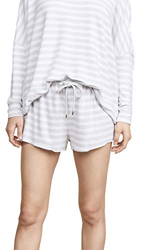 Honeydew Intimates Women's Starlight Lounge Shorts, Heather Grey Stripe, Small