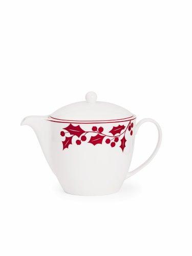 Lenox Holly Silhouette - Lenox Holly Silhouette Teapot