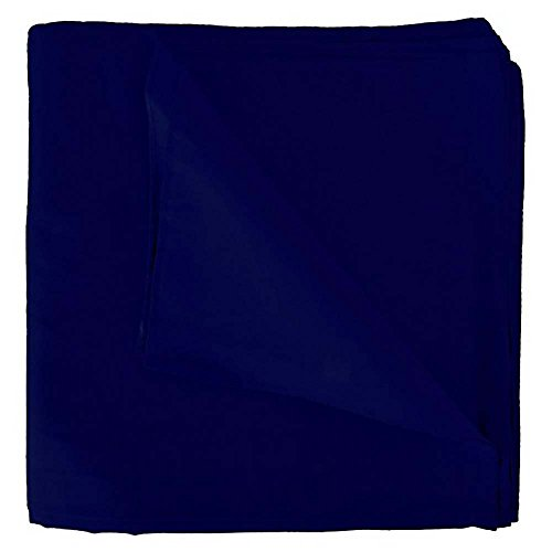 Mechaly Solid Colors 100% Cotton Bandana (Navy Blue)