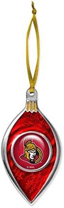 The Sports Vault NHL Ottawa Senators Sparkle Ornament