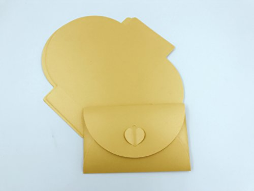 A 33 Pieces Blank Kraft Paper Envelope from (Golden)