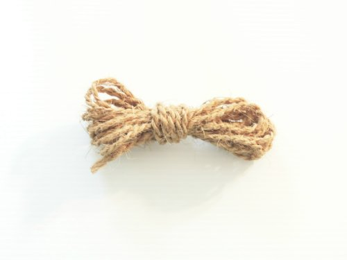 1/8'' Natural Un-oiled Coconut Rope Bird Toy Parts 1000' by Jungle Beaks