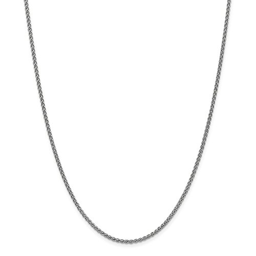 Jewelry Best Seller 14k WG 2mm Solid Polished Spiga Chain